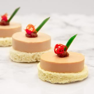 Foie Gras Mousse with Rose Petal Gelée on Toast