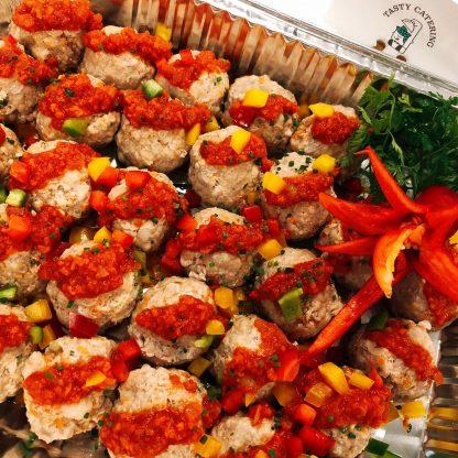 芝士香草鮮茄蓉伴豬肉丸 - TASTY CATERING - 美食到會 - 婚禮酒會 - 自助餐
