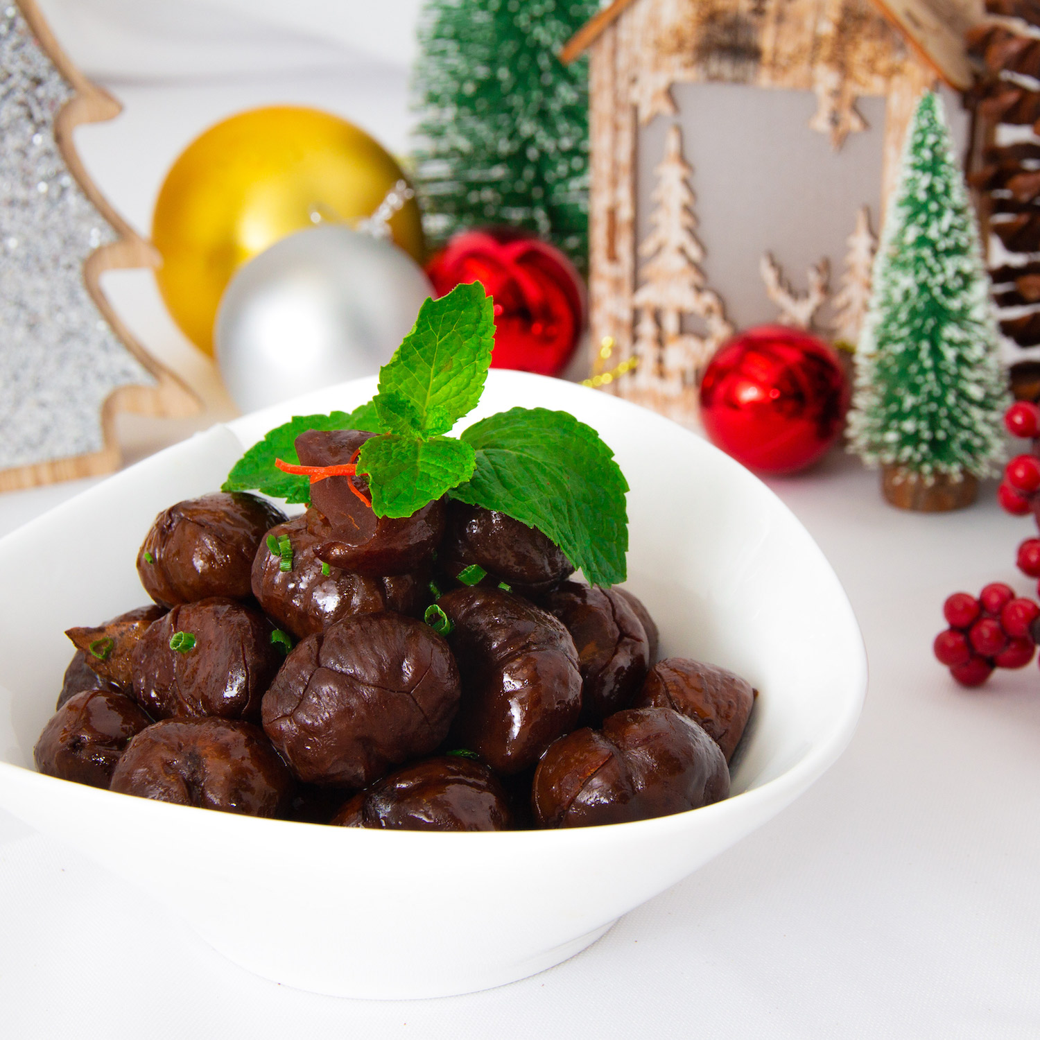 Spiced Candied Whole Chestnuts