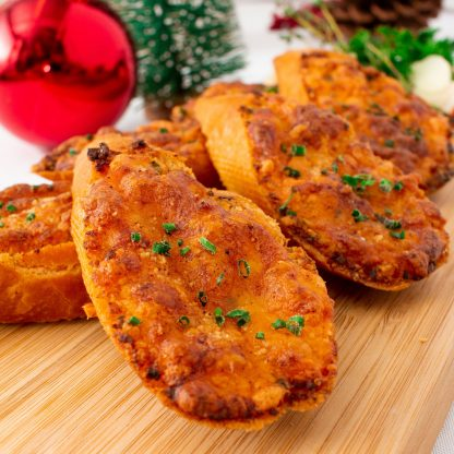 Three Cheese Garlic Bread with Paprika and Herbs