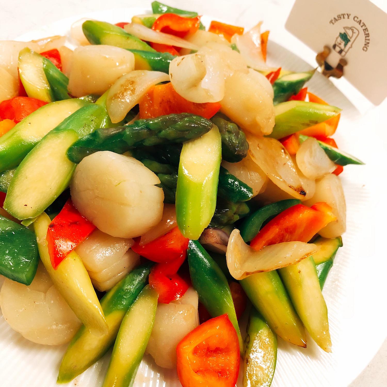 特大帶子炒澳洲蘆筍 (刺身級) - TASTY CATERING - 美食到會 - 婚禮酒會 - 自助餐