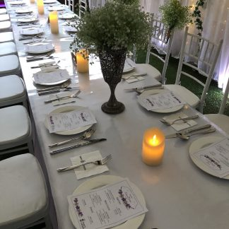 Wedding Catering, Tableware Rental, Long Table Dinner