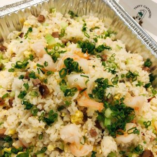 Barbecued Pork and Shrimps Fried Rice