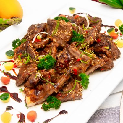 黑椒燴牛仔骨 Braised Beef Ribs in Black Pepper Sauce