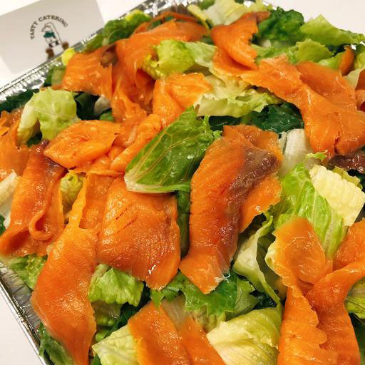 Caesar Salad with Smoked Salmon