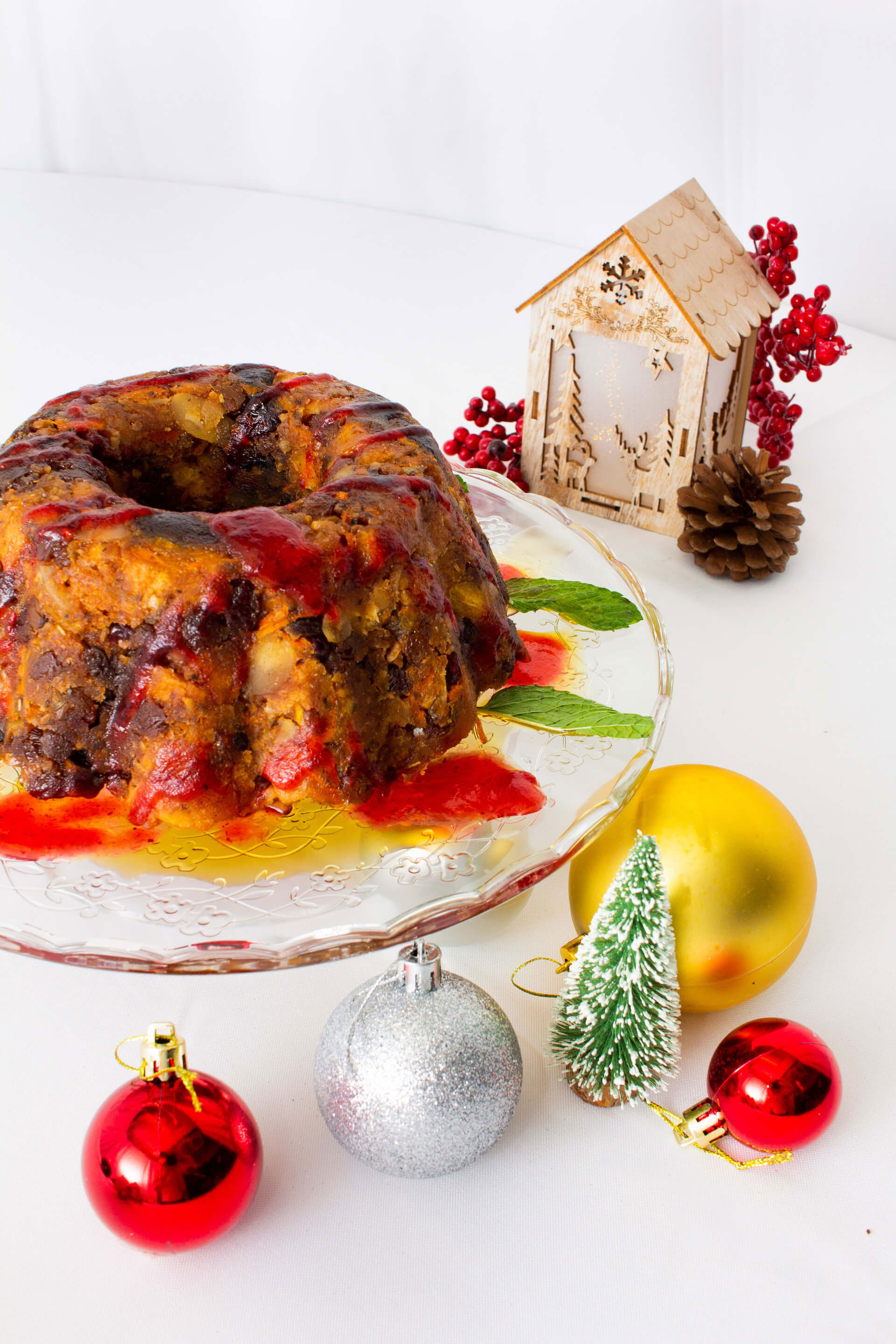 Classic Christmas Pudding with Brandy-Butter Sauce