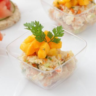 Crab Meat Tartare with Fresh Mango Salsa