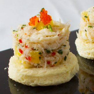 Crabmeat Tower with Roasted Pineapple Salsa