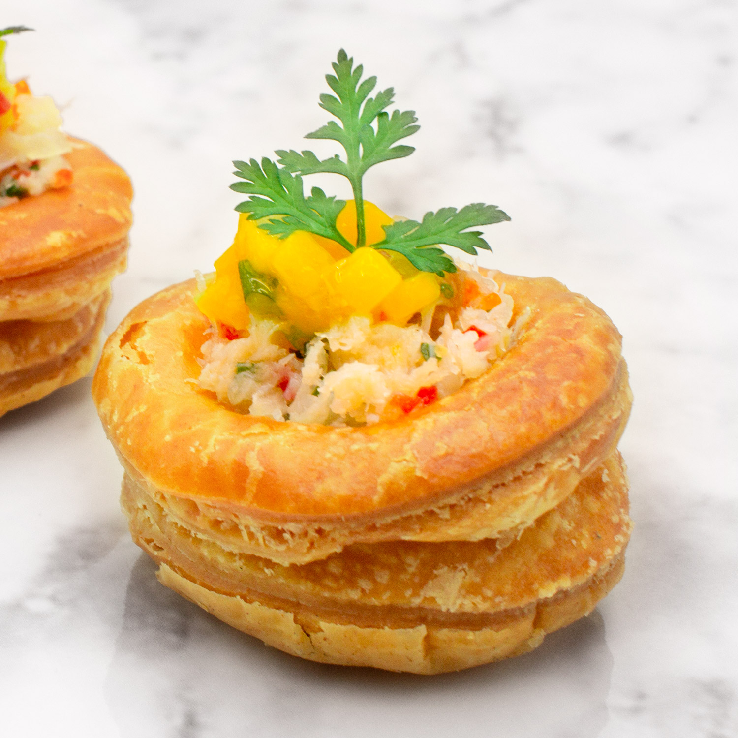 Crabmeat with Mango Salsa Vol au Vent