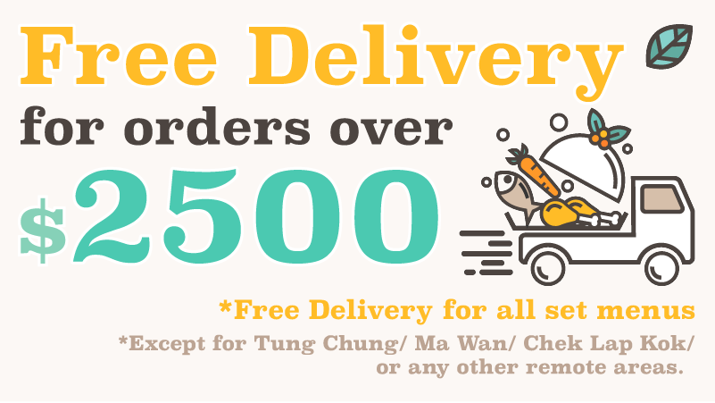 Free Delivery for order above $2500/$3000
