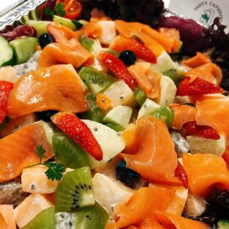 Fresh Fruit Salad with Assorted Seafood