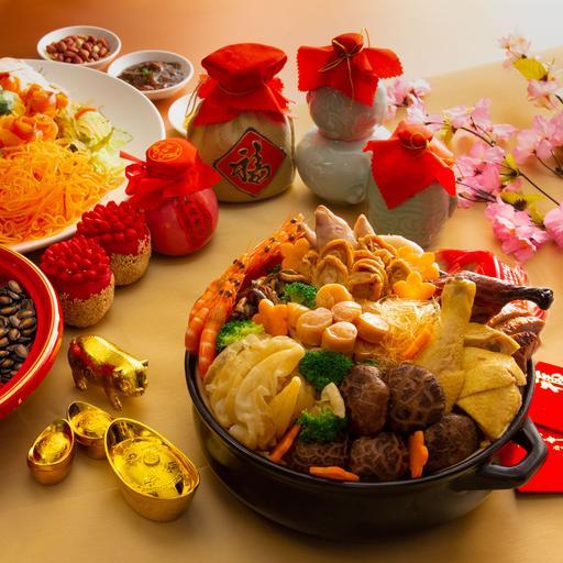 一品鮑魚花膠燉雞湯盆菜 (12人份)