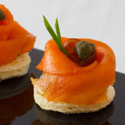 Smoked Salmon Rosette on Toast