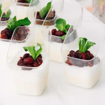 Vanilla Panna Cotta with Hokkaido Red Beans